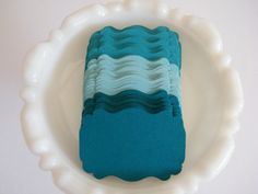 Gift Tags / Escort Cards Trio of Teal and by MorrellDecor on Etsy, $6.10