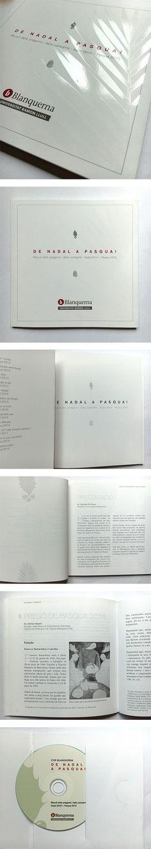 """Llibre amb CD. """"De Nadal a Pasqua! Recull de pregons i dels concerts. Nadal 2010 - Pasqua 2015"""". 2016 #design #university #Blanquerna"""