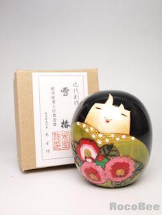 Japanese Sousaku Kokeshi Doll by Koho / Yukitsubaki