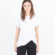 Modern Citizen  |  Nady Relaxed Twist-Hem Tee (White) $42