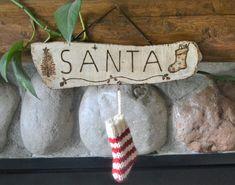 Christmas decorations Santa wall hanging Holliday stocking | Etsy