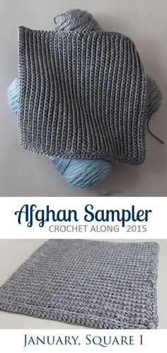 Afghan Blanket: 2 squares a month-blanket at the end of the year
