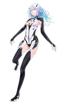 Shanna's been looking for a good swimsuit for six months now. She drew this one, maybe she'll make it someday. Female Character Design, Character Design Inspiration, Character Concept, Character Art, Female Cyborg, Female Armor, Sci Fi Anime, Mecha Anime, Black Anime Characters