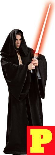 Star Wars Deluxe Hooded Sith Robe Black One Size Costume