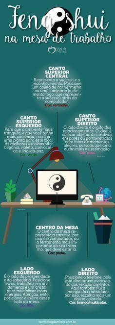 Feng shui na mesa de trabalho: como aplicar e benefícios - Blog da Mimis #blogdamimis #fengshui #infográfico #art #organização