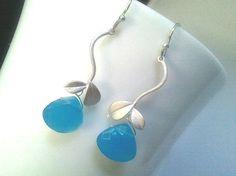 Blue Mountain Silver Earrings by LaLaCrystal on Etsy,