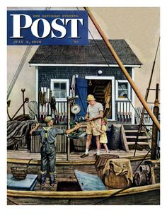 1949 Man Buying Lobsters - Retro New England Summer Vacation Art - Saturday Evening Post Cover - Nash Airflytes Ad Journal Vintage, Norman Rockwell Art, Graffiti, Nostalgic Art, Saturday Evening Post, Art Courses, Vintage Magazines, Famous Artists, Cool Artwork