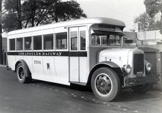 https://flic.kr/p/f2dHnf | Three quarters view of bus no.1501 | This photograph depicts a three quarter view of Los Angeles Railway bus no.1501 with a headsign to Highland Park. February 4, 1942.