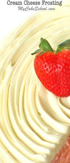 SO Good! Cream Cheese Frosting Recipe by MyCakeSchool.com. Online Cake Decorating Tutorials, Videos, & Recipes!!