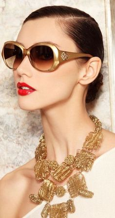 Laura Biagiotti Eyewear  But that necklace though.