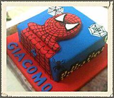 Spiderman cake By Dulce Villa - Tortas & Cupcakes #spiderman #fondant #sugarpaste #tortas #cake #icing