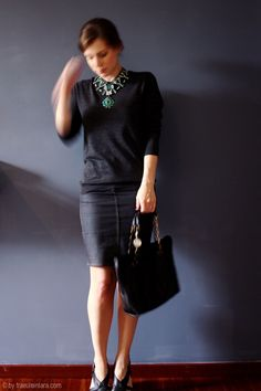 #marant #pencilskirt #statement #necklace  #lanvin
