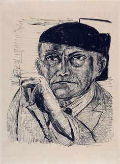 Self-portrait by Max Beckmann