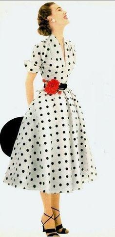 Love 1950's dress! #1950's #myshopstyle #vintagestyle