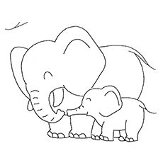 Elephant color page, animal coloring pages, color plate, coloring ...