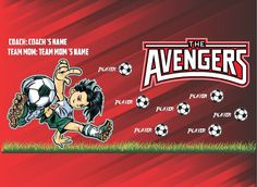 Soccer team banners, team banners for soccer $69.99 with my banner biulder.