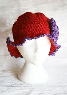 Woman crochet hat with big brim by MarryGKnitCrochet on Etsy, $30.00