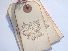 Maple leaf tags