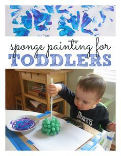 Sponge painting for toddlers!