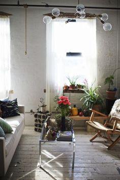 Light, plants.