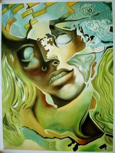 Quite possibly my favorite painting of all time - Exploded Head, Salvador Dali