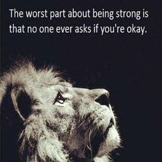be strong inside and out, or you won't be able to be strong for anyone else.