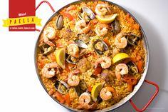 Mixed Paella with chicken Chorizo, clams, prawns and rice