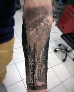 Top 57 Tree Tattoo Ideas Inspiration Guide] : Impressive Male Cool Tree Tattoo Designs Discover nature's most sacred living monument with the best cool tree tattoos for men. Explore a forest of ink design ideas. Forest Tattoo Sleeve, Nature Tattoo Sleeve, Forest Tattoos, Best Sleeve Tattoos, Body Art Tattoos, Space Tattoo Sleeve, Tree Tattoo Sleeves, Tattoo Nature, Sleeve Tattoo For Guys