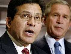 Alberto R. Gonzales (born August 4, 1955) is a #MexicanAmerican and was the 80th United States Attorney General, appointed in February 2005 by President George W. Bush, becoming the highest-ranking Hispanic in executive government to date. He was the first Hispanic to serve as White House Counsel, and earlier he had been Bush's General Counsel during his governorship of Texas. Gonzales had also served as Secretary of State of Texas and then as a Texas Supreme Court Justice.