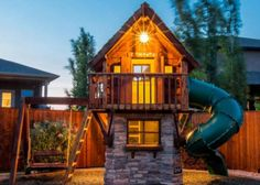 Wat zou je doen met een miljoen? Misschien één van deze schitterende speelhuisjes laten ontwerpen voor in de achtertuin! Het is maar een idee... Tot die tijd dromen wij wel weg bij de foto`s!