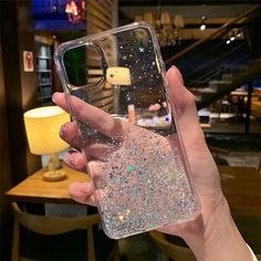 For iPhone 11 11 Pro Max Clear Cute Sparkle Glitter Star Girls Slim Case Cover - Sparkle Iphone Case - Ideas of Sparkle Iphone Case Iphone 8, Apple Iphone, Iphone 6 Plus Case, Iphone Phone Cases, Kawaii Phone Case, Girly Phone Cases, Pretty Iphone Cases, Diy Phone Case, Capas Iphone 6