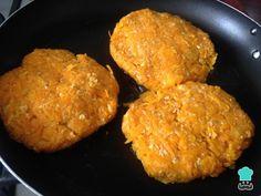 Hamburguesas de Calabaza - Receta FÁCIL y SANA Diet, Cooking, Ethnic Recipes, Food, Salads, Brazil, Vegetarian Meals, Healthy Meals, Finger Foods
