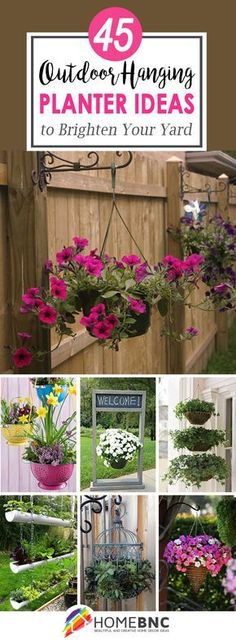 45 Seasonal Outdoor Hanging Planter Ideas to Try This Summer Many people who live in a garden house want to decorate their garden with a variety of decorating ideas. Especially the flowers, pots and other plants are the most basic objects of these decorat Patio Plants, Garden Shrubs, Outdoor Plants, Garden Planters, Succulents Garden, Garden Beds, Outdoor Gardens, Planting Flowers, Home And Garden
