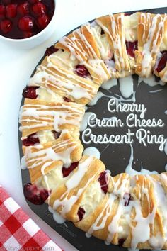 Cherry Cream Cheese Crescent Ring 1