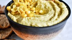I LOVE hummus! Jalapeno hummus with fresh sweet corn. Jalapeno Corn, Spicy Hummus, Best Appetizers, Appetizer Recipes, Roasted Jalapeno, Roasted Corn, My Burger, How Sweet Eats, Gourmet