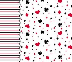 Queen of Hearts Border fabric by gabi-hime on Spoonflower - custom fabric