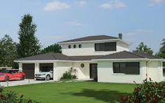 Résultats de recherche d'images pour «maison en l avec etage partiel»