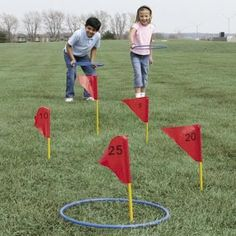 Who knew there were so many outdoor lawn games? I think I need to get several, especially the glow in the dark ones. They're so much fun for camping, Burning Man, or just summer evenings.: