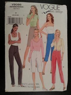 Vogue Basic Design 8086 Misses Shorts and by Noahslady4Patterns