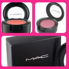 Mac Cosmetics  2 Eyeshadows...LIKE NEW!! Mac Cosmetics Eyeshadows.  One is Ablaze (matte finish) and the other is Swish (frost finish).  Both very pretty colors that can be worn subtle or bold depending on how you choose to apply.  Great condition! Used maybe twice! MAC Cosmetics Makeup Eyeshadow