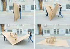 Cardboard Pop-up Office