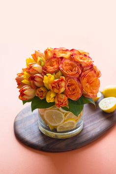 Citrus Shine arrangement reprinted from The Flower Chef by Carly Cylinder