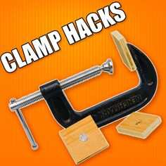 5 Quick Hacks for Woodworking Clamps. #woodworking #hacks #tools