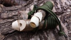 Wooden whistle Woodland Whistles whittle by CottageCoppicing