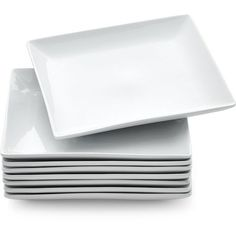 Crate u0026 Barrel Set of 8 Court Dinner Plates ($45) ? liked on Polyvore featuring home kitchen u0026 dining dinnerware crate and barrel white dinner plates ...  sc 1 st  Pinterest & Set of 12 Boxed 6