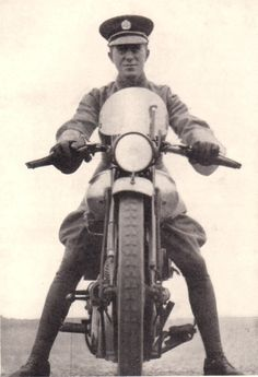 T.E. Lawrence on his Brough Superior