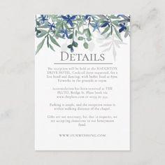 Fresh Boho Details Enclosure Card Wedding Sets, Wedding Cards, Holiday Cards, Christmas Cards, Honeymoon Gifts, Wedding Details Card, Photoshop Design, Christmas Card Holders, Hand Sanitizer