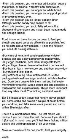 A lot of reading but this is something that everyone should read, stop falling for those stupid 3 day detox plans that claim you'll loose 15 pounds. Just cut out unhealthy products and work for your results like everyone else does. Month one, make it or break it..... TRUTH