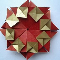 Origami wreath from - love, life and crafts Rudlis: Small kursik ...