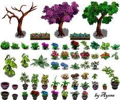 Nature Tile II RPG Maker by Ayene-chan.deviantart.com on @deviantART